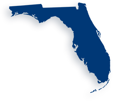 image of the state of Florida highlighted blue